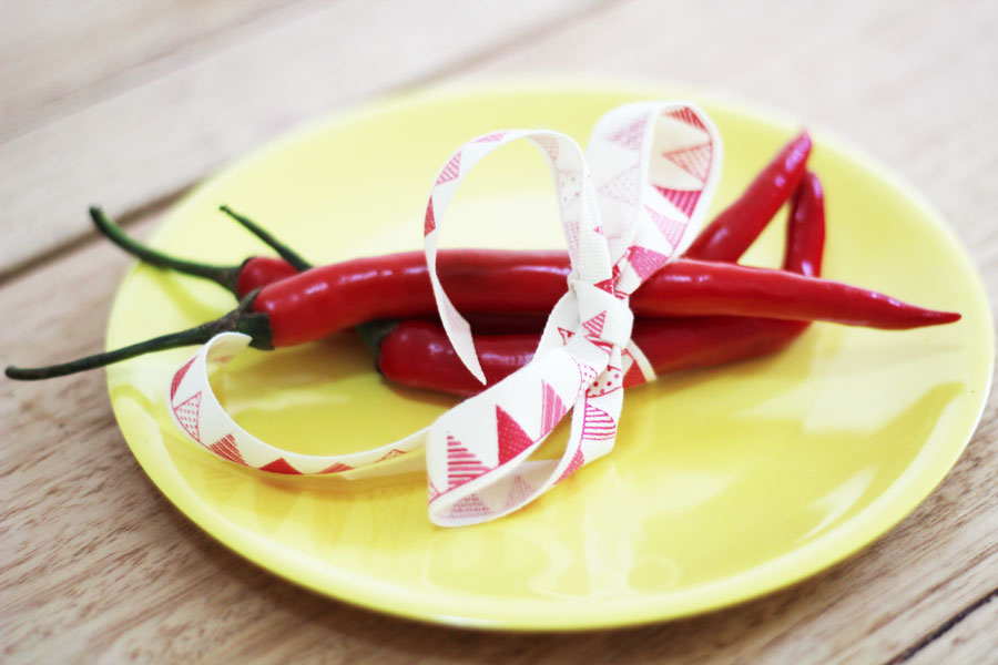 picture of ribbon wrapped chillies