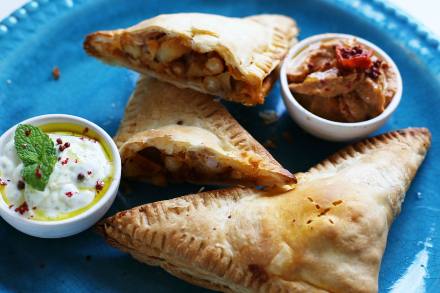 Moroccan chickpea pie