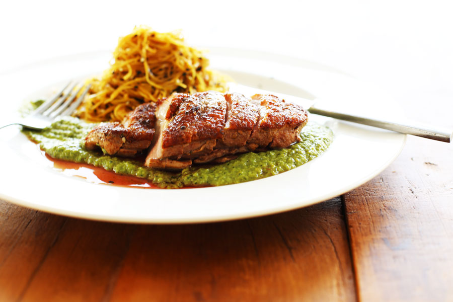 If you aren't a duck convert, this duck breast, kumara noodles and ...